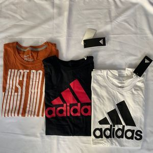 NWT Nike Adidas Lot of 3 Tees Bundle - Size S